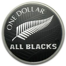 ALL BLACKS Rugby 1 Oz Silver Coin 1$ New Zealand 2019