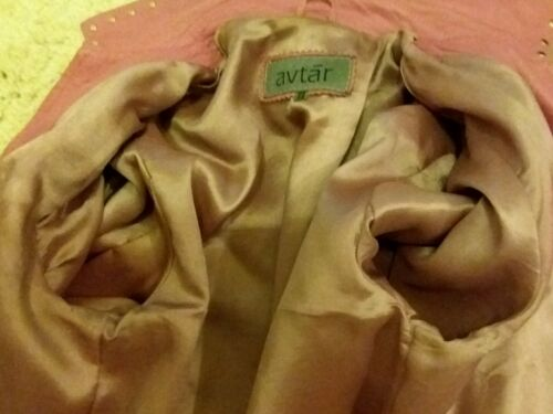 Cuero Por Chaqueta Rosa De Avtar Size12 PwwCxpqv