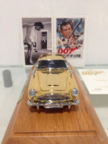 Vintage Aston Martin DB5 GT Gold Plated Spy Car
