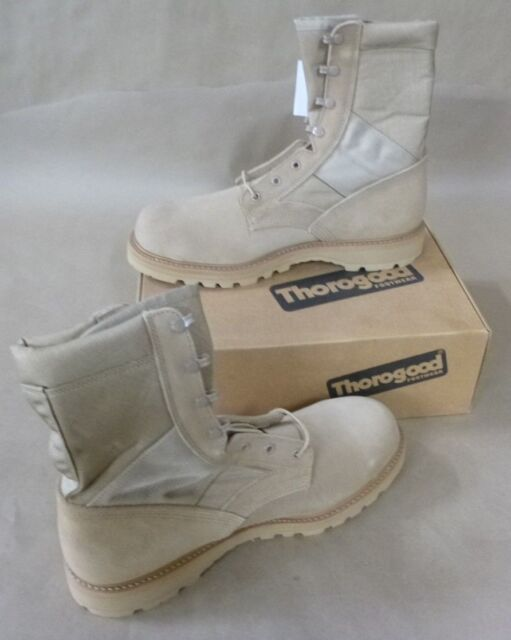 70b9ffb052f THOROGOOD MEN'S DESERT TAN ARMY MILITARY STEEL TOE HOT WEATHER COMBAT BOOTS
