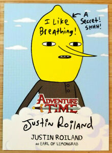 CRYPTOZOIC ADVENTURE TIME AUTO CARD #A1 JUSTIN ROILAND AS LEMONGRAB *INSCRIBED*