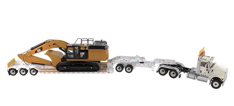 suministro de productos de calidad 1 1 1 50 Tractor + Trailer Lowboy internacional HX520 + Lxe Excavadora CAT 349F dm 85600  calidad de primera clase
