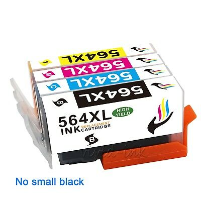 4PK Compatible 564XL Black Ink Cartridge For HP 564 Photosmart D5400 D5468 C410
