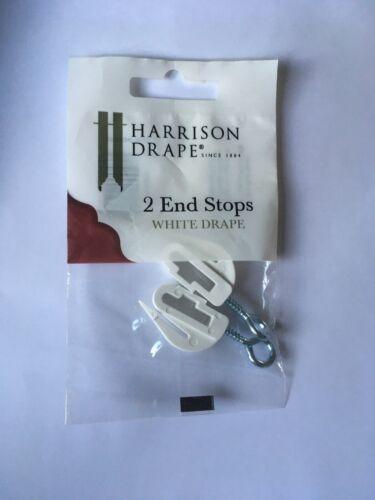 Harrison Drape 2 End Stops White Drape