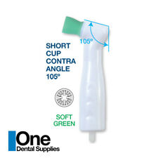 Dental Disposable Prophy Angles Soft Green Short Cup 105 Latex Free 500 Pcs