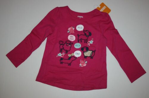 NEW Gymboree Ready Jet Go Tee Top Shirt NWT 2T 3T 4T 5T Hello Pups Dogs Girls