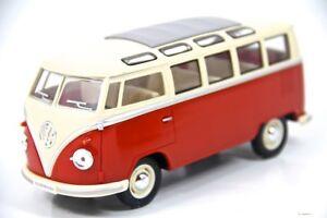 7-034-Kinsmart-1962-VW-Volkswagen-Bus-Diecast-Model-Toy-Car-Van-1-24-Orange