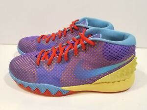 e3f52531003 Youth Nike Kyrie 1 Basketball Shoes Saturdays Lemon Frost Grape Red ...