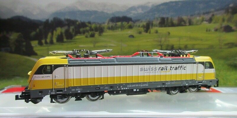 Fleischmann 738972 e Lok 487 001  br 187 , Swiss Rail Traffic Spur N SOUND NUOVO