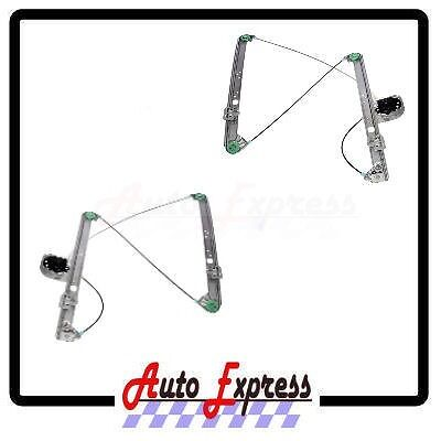 FRONT DRIVER LEFT PASSENGER RIGHT WINDOW REGULATOR PAIR 00-06 BMW X5 NEW