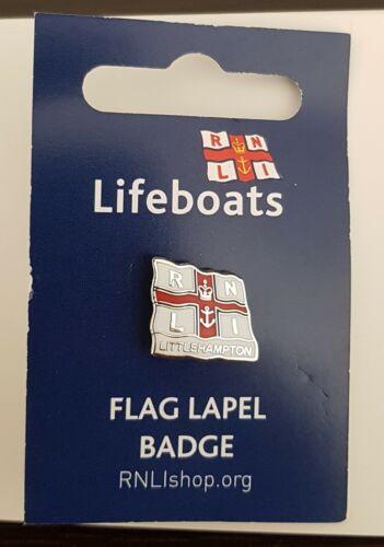 "Brand New /""RNLI LITTLEHAMPTON FLAG LAPEL PIN BADGE/"" SAME DAY DISPATCH !!"