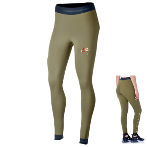 e35dc13e734f5 Nike Air Women's Leggings M Green Rose Gold Metallic Casual Gym ...