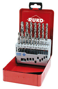 Ruko 19pcs. Set Punte Trapano a terra, HSS-G, 1-10.0mm, di alta qualità, MADE IN GERMANY