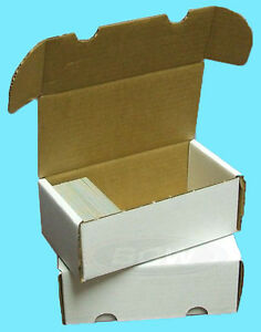 3-BCW-400-COUNT-CARDBOARD-STORAGE-BOXES-Trading-Sports-Card-Holder-Case-Baseball