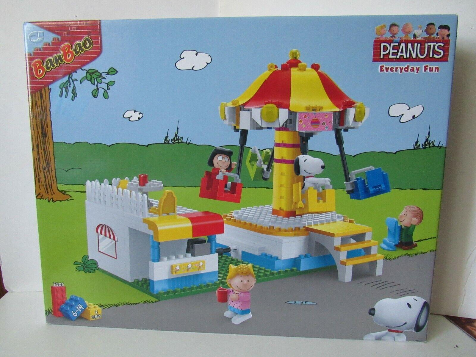 BanBao Peanuts Snoopy todos los días de Cochenaval Swing Rider Diversión bloque de construcción Set  7505