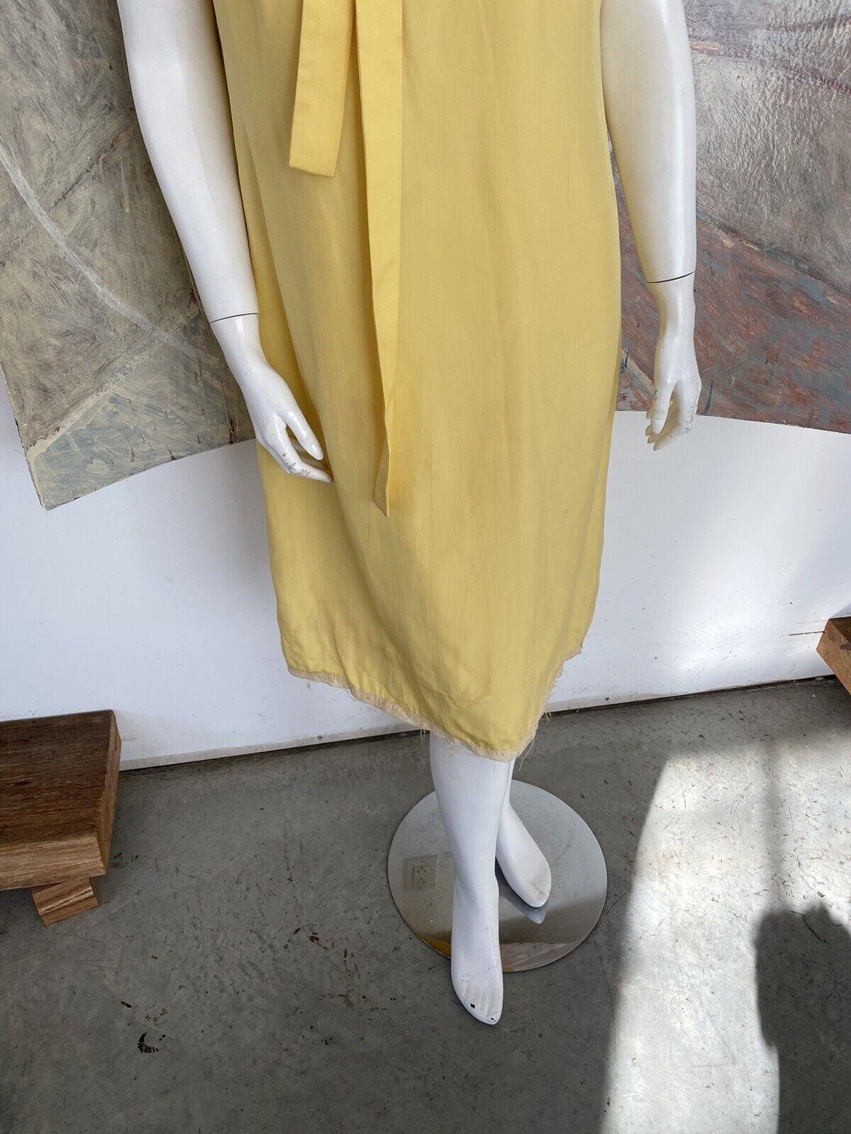 Vintage Alice John Rogers Yellow Silk Pussybow Sh… - image 3