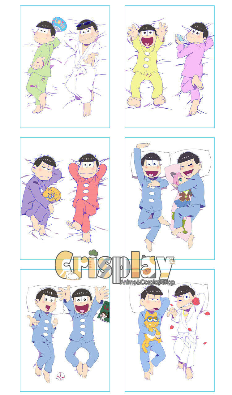 80x60  SIX SAME FACES Mr.Osomatsu San Bedding Fitted Sheet Cover Series Cosplay
