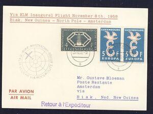 51475-KLM-Polar-FF-Biak-Amsterdam-8-11-58-Karte-ab-Luxemburg