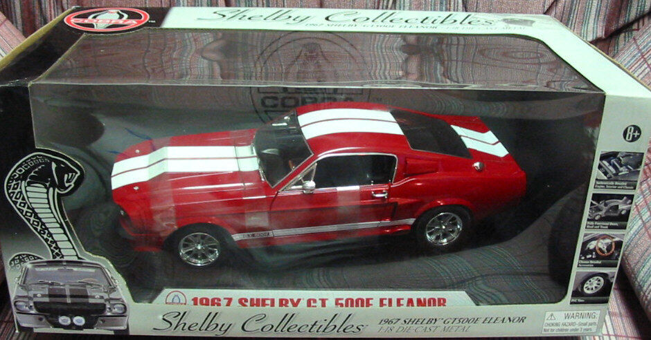 1967 Shelby Collectibles Mustang GT-500E GT-500 Eleanor RED RED RED Diecast 1 18 - NEW  7e633b
