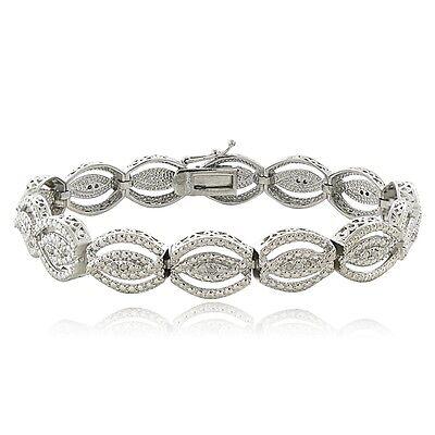 0.25ct TDW Natural Diamond Intertwining Infinity Bracelet