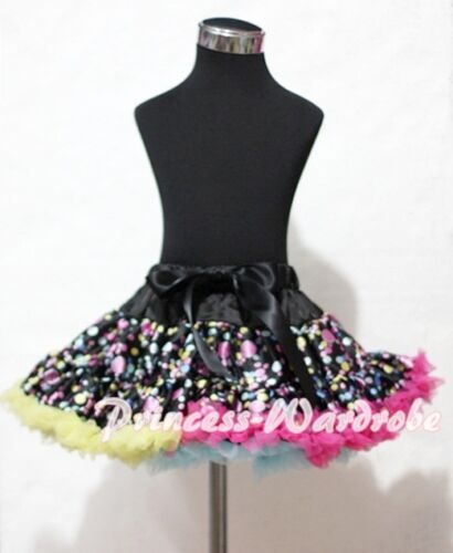Rainbows Dots Printing FULL Pettiskirt Skirt Dress Dance Tutu For Girl 1-8Year