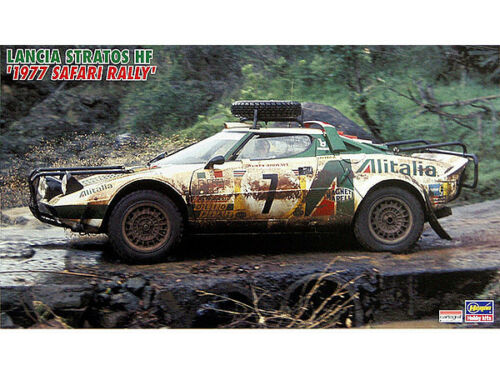 """Lancia Stratos HF 1977 Safari Rally Car"" Hasegawa 124 Model Kit CR36"