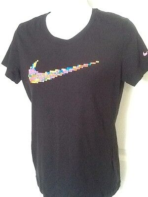 New Women/'s Active T shirt Nike Athletic Cut Graphic T-Shirts Swoosh Logo Top