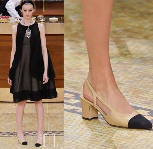 Escarpins femme LADIES deux tons en cuir escarpins sandales Block Talons Travail Chaussures