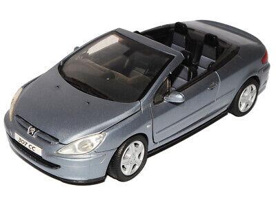 Peugeot 307CC Cabrio Blau Grau 2003-2009 1//24 Motormax Modell Auto mit oder oh..
