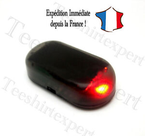 fausse alarme led voiture flashant rouge phare maison caravane security factice ebay. Black Bedroom Furniture Sets. Home Design Ideas
