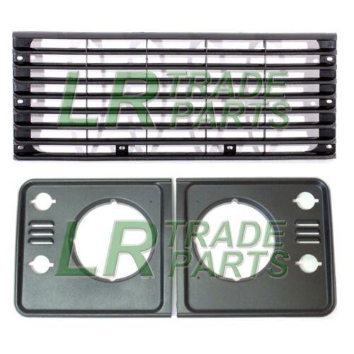 Land Rover Defender Radiador Rejilla Y Faro rodea Td5 Estilo Upgrade Kit