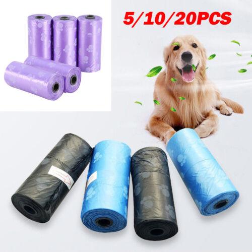 Bags Waste Poop Dog Pet Up Pick Refill Rolls Dispenser Clean Biodegradable Bag