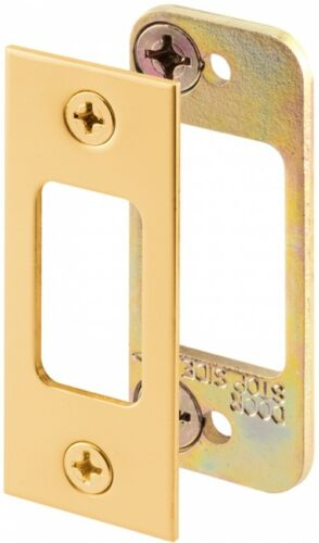 Gatehouse Steel Entry Door Deadbolt Strike Plate Brass Plated Hardware