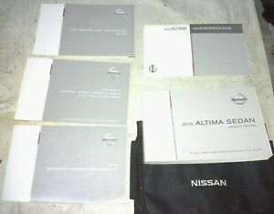 NISSAN ALTIMA OEM OWNER MANUAL INSTRUCTION REFERENCE BOOK SET 2015