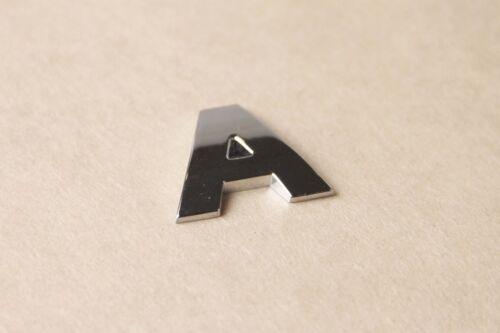 Lettera B FULL METAL ARGENTO 3D AUTOADESIVO AUTO ADESIVO Badge Emblema