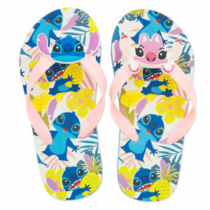 91cf962667fab Disney Store Stitch   Angel Flip Flops Girls Sandals 7 8 9 10 11 12 ...