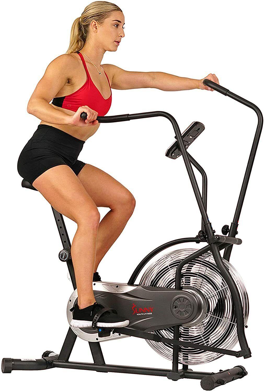 Sunny Health & Fitness Zephyr Air Bike, Fan Exercise Bike with Unlimited air bike exercise fan fitness health sunny unlimited with zephyr