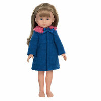 Corolle 13 Les Cheries Coat Dolls Blue Pink Fur Blue Ribbon Box France