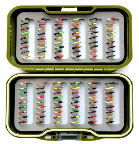 By Arc Fishing Flies UK Fly box with Trout Fishing Flies barbed or BARBLESS GW