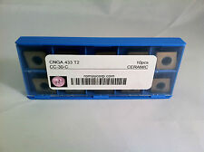 PACK OF 9 NEW ISO-TURN CNGA433-T.006x30 IS8 Insert