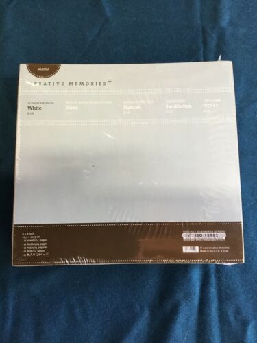 NEW Creative Memories 8x8 White Scrapbook Pages 12 PAGES SEALED 2008