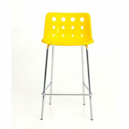 Loft Robin Day 4 Leg Yellow Plastic Polo Bar Stool