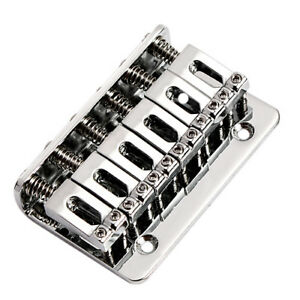 Fixed-Hardtail-Hard-Tail-Bridge-For-6-String-Top-Load-Guitar-Parts-Chrome
