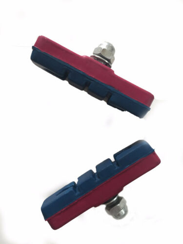 2xPairs BMX Bike V Brake Blocks Pads Shoes Red /& Blue Brake Sets Allen Key Fit