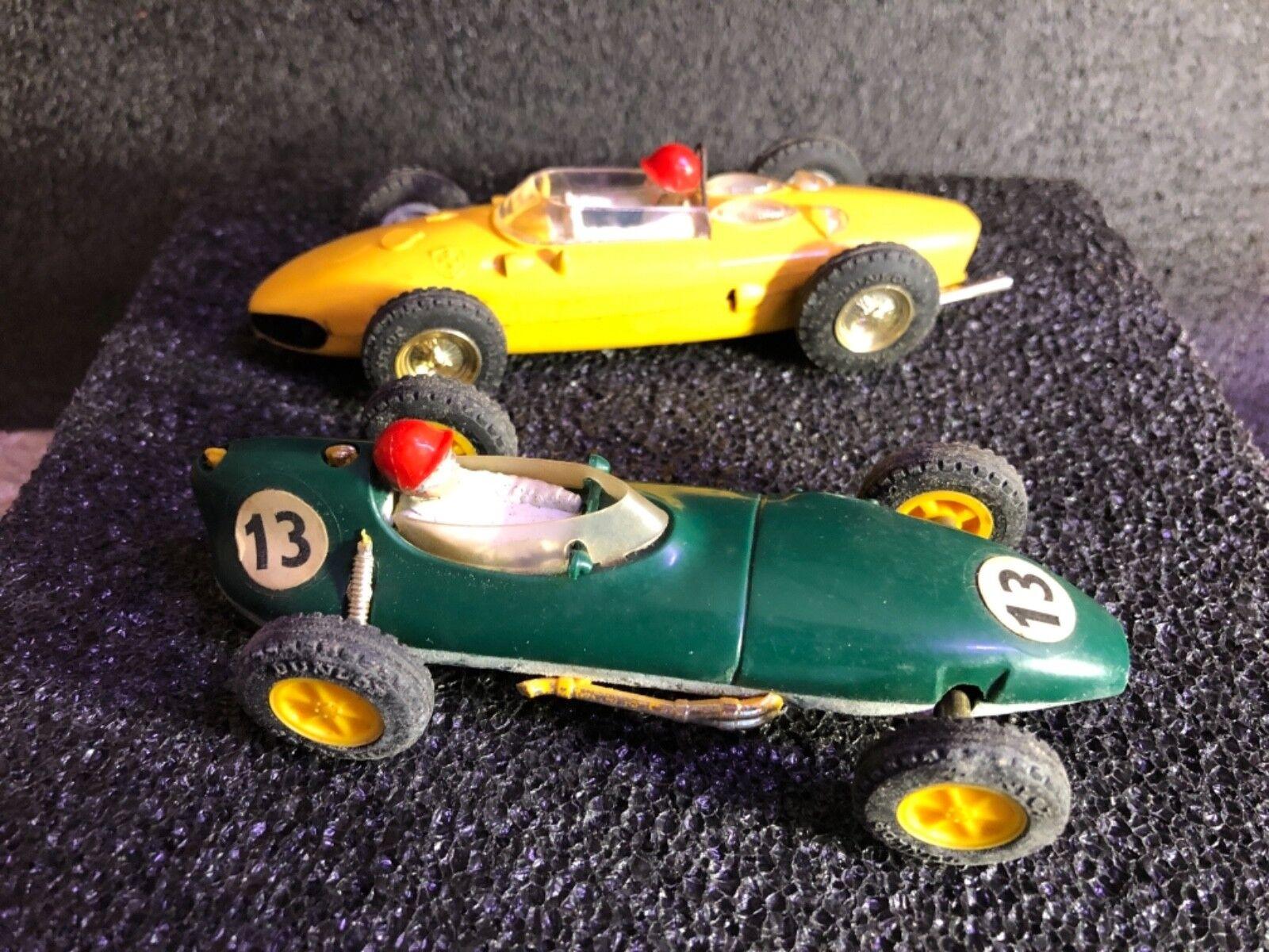 Slot Cars VINTAGE SCALEXTRIC Tri-Ang 2 Lotus voitures bon état