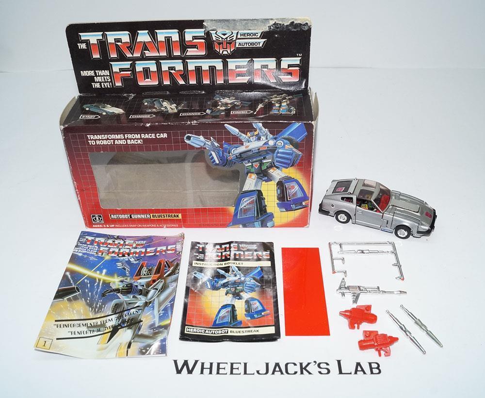 blueestreak MIB 100% Complete B 1984 Vintage Hasbro Action Figure G1 Transformers