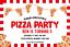 Personnalisé Invitations Pizza Making Fête Anniversaire invite x 10