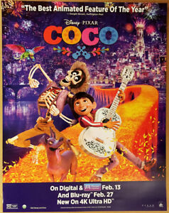 coco dvd movie poster 1 sided original 22x28 benjamin bratt disney rh ebay com