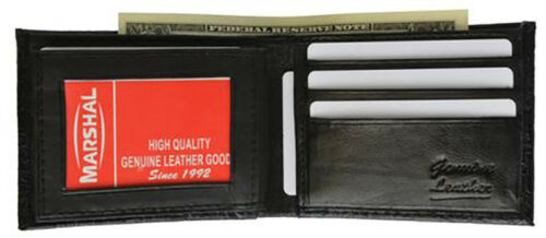 Croc Embossed Leather Men/'s Bifold Wallet Cowboy ID Credit Card Front Pocket