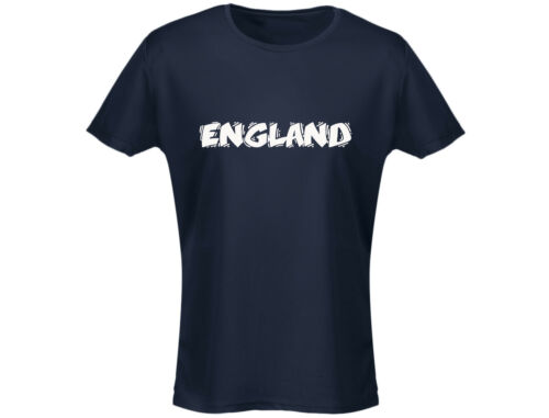 England Funky Womens Football Rugby T-Shirt 12 Colours
